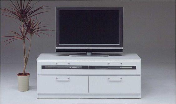 マーブル 120TVボード(テレビボード・テレビ台・AV収納・テレビラック・ローボード) 【ホワイト(白)】【シンプル】【送料無料】 【送料無料●激得】