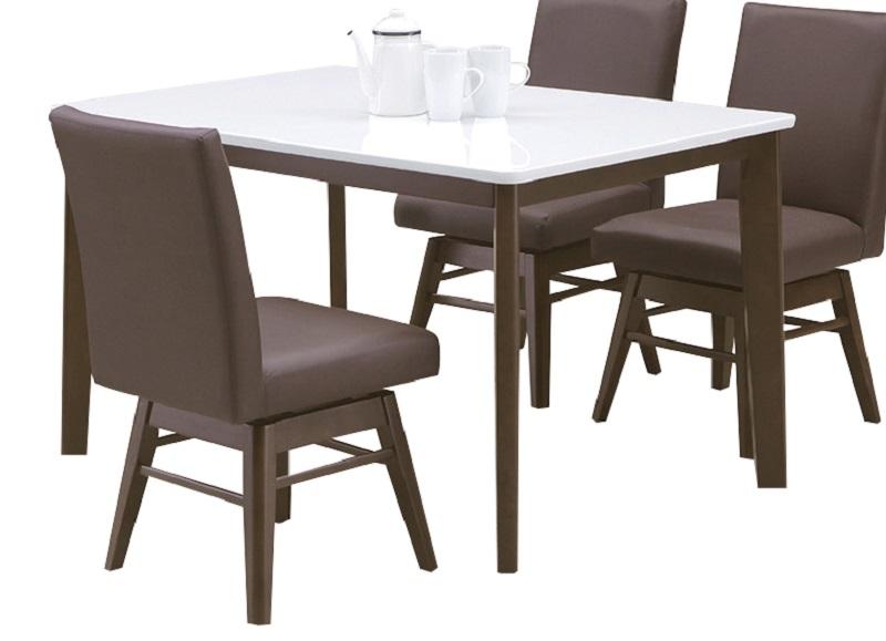 ダイニングテーブル・120カンパニー(こちらはテーブルのみです)(2色対応)【ブラウン】【ホワイト】