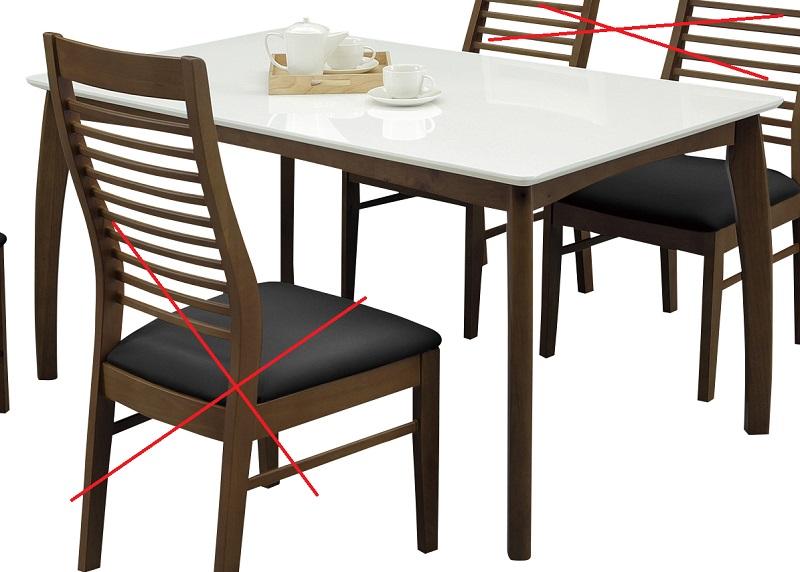 ダイニングテーブル・135コペン【2色対応】【ブラウン】【ナチュラル】(テーブルのみ販売)【ハイグロス】【送料無料】(北海道・沖縄・離島除く)