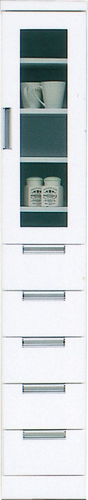 30収納HG・スリム〔 木製 〕〔 シンプル 〕(食器収納・食器棚・家電収納・キッチン収納・カップボード)【送料無料】(北海道・沖縄・離島を除く)