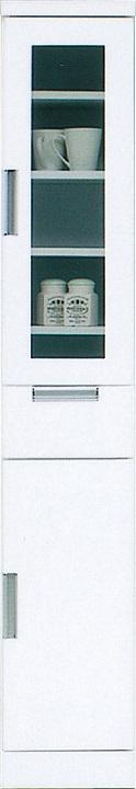 30収納TG・スリム〔 木製 〕〔 シンプル 〕(食器収納・食器棚・家電収納・キッチン収納・カップボード)【送料無料】(北海道・沖縄・離島を除く)