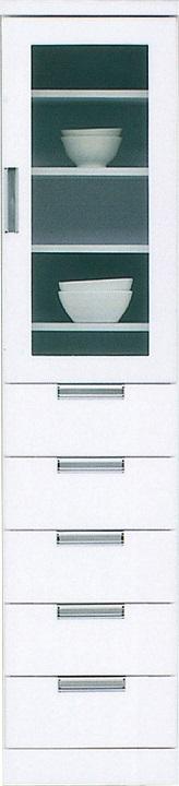 40収納HG・スリム〔 木製 〕〔 シンプル 〕(食器収納・食器棚・家電収納・キッチン収納・カップボード)【送料無料】(北海道・沖縄・離島を除く)