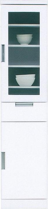 40収納TG・スリム〔 木製 〕〔 シンプル 〕(食器収納・食器棚・家電収納・キッチン収納・カップボード)【送料無料】(北海道・沖縄・離島を除く)