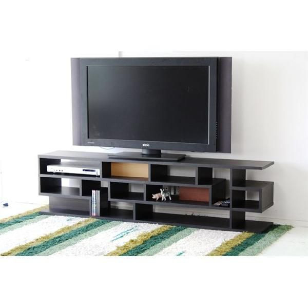 170cm幅 テレビボードラック グラ 【カラー:ブラック、ホワイト】 【TVボードとしてもラックとしてもお使いいただけます】