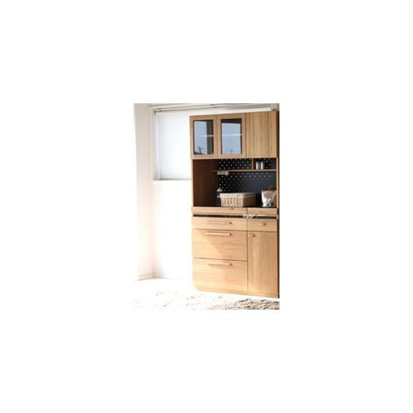 105cm幅 キッチンボード 【食器棚】 オクタ