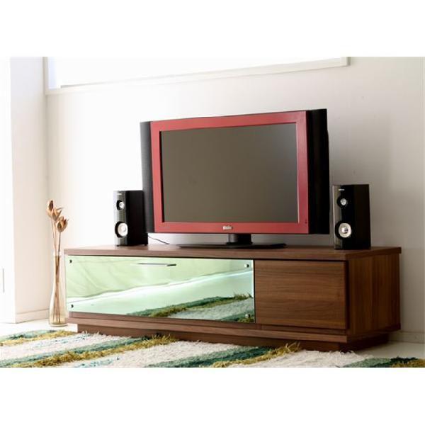 140cm幅 TVボード テムズ 【カラー:ブラウン、ホワイト/ブラウン】