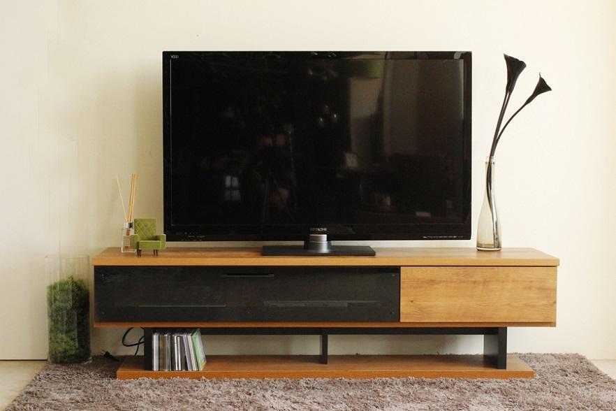 160テレビボード・ネイツ〔 木製 〕〔強化ガラス〕【送料無料】(北海道・沖縄・離島を除く)