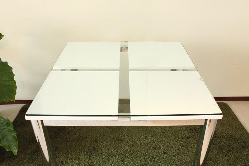 80ダイニングテーブル・Nフレスコ(N-FRESSCO)【テーブルのみ】【ガラス天板】【ホワイト】【送料無料】(北海道・沖縄・離島を除く)