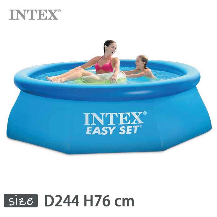 INTEX(インテックス)丸形イージーセットプールES830【 244 × 76 cm】Easy Set Pool 28110 正規品