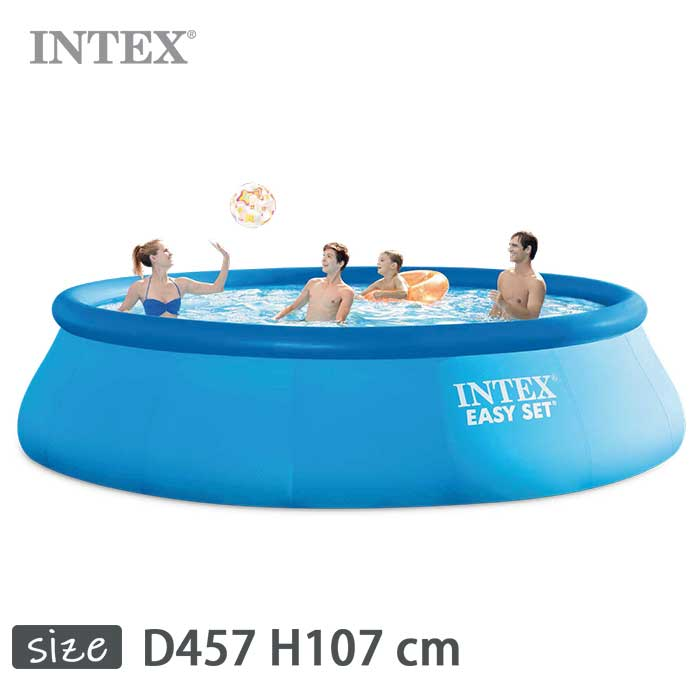 INTEX(インテックス)丸形イージーセットプールES1542 ×【 457 × 107 cm】Easy 107 Set Pool 正規品 26165 正規品, 赤ちゃんのためのお粥:54a49f67 --- officewill.xsrv.jp