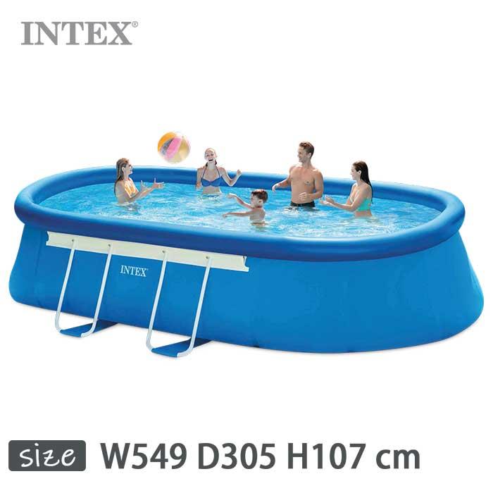 INTEX(インテックス)楕円形イージーセットオーバルフレームプールOES1018【 549 × 305 × 107 cm】Easy Set Oval Frame Pool 26191