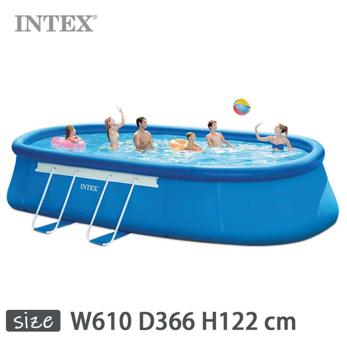 INTEX(インテックス)楕円形イージーセットオーバルフレームプールOES1220【 610 Frame × 26193 366 正規品 × 122 cm】Easy Set Oval Frame Pool 26193 正規品, ニシキマチ:88e5554f --- officewill.xsrv.jp