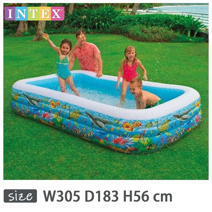 INTEX(インテックス)長方形ファミリープールFS305【 305 × 183 × 56 cm】Swim Center Tropical Reef Family Pool 58485 正規品