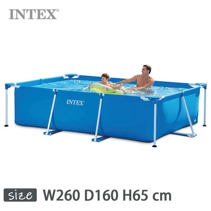 INTEX(インテックス)長方形フレームプールRF860【 260 × 160 × 65 cm】Rectangular Frame Pool 28271