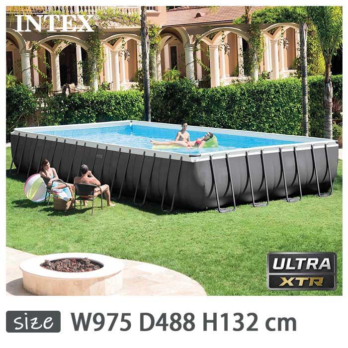 INTEX(インテックス)長方形ウルトラフレームプールUMP163252 Pool【 975 × × 488 26371 × 132 cm】Ultra Frame Pool 26371 正規品, キタウラマチ:daa4de5c --- officewill.xsrv.jp