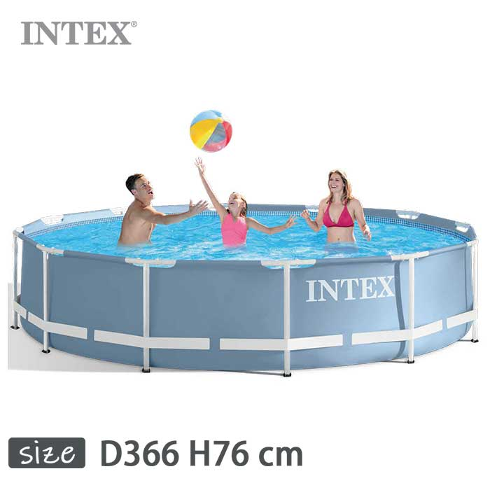 INTEX(インテックス)多角形プリズムフレームプールPF1230【 366 × 76 cm】Prism Frame Pool 28710
