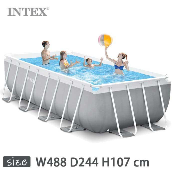INTEX(インテックス)長方形プリズムフレームプールPF81642 正規品【 488 × × 244 Pool × 107 cm】Prism Frame Rectangular Pool 26791 正規品, フレンドバッグ:039c72e6 --- officewill.xsrv.jp