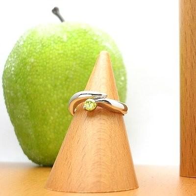 [スピード配]プラチナ900アップルグリーンダイヤモンド リング(アップルD0.16ct)【ハイクラス】【宝石 ジュエリー】【プレゼント】【刻印無料】*
