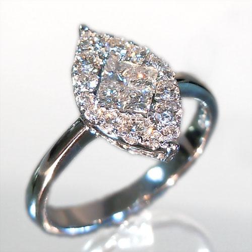 【上質ジュエリー】ホワイトゴールド(K18WG) ダイヤモンド リング(4月誕生石/ミステリーセット)【宝石 ジュエリー】【プレゼント】【刻印無料】*