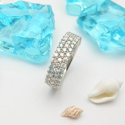 [スピード配]プラチナ900アイスブルーダイヤモンド リング(D 1.04ct/パヴェ)【ハイクラス】【宝石 ジュエリー】【プレゼント】【刻印無料】*【夏色】