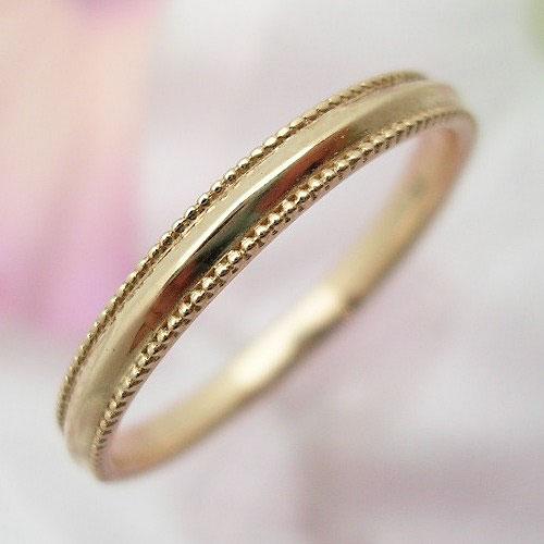 K10 pink gold rings (wedding rings and metal ring)