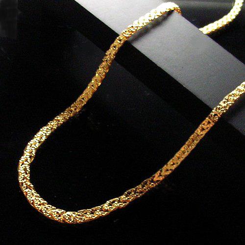 ポイント10倍/K24(純金)リバーシブルデザインネックレス(長さ42cm/重さ約8.5g/ピュアゴールド)【宝石 ジュエリー】【プレゼント】【刻印無料】*