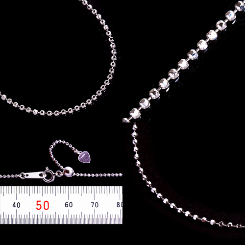 Platinum 1.2 righties chain necklace (thickness 1.2 mm / length 45 cm / free slide / another length can note/PT / bullion / order / domestic / adjuster)