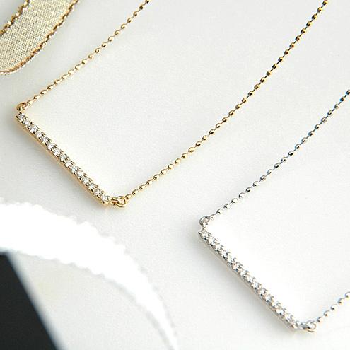 ホワイトゴールド(K18WG) /YGダイヤモンド