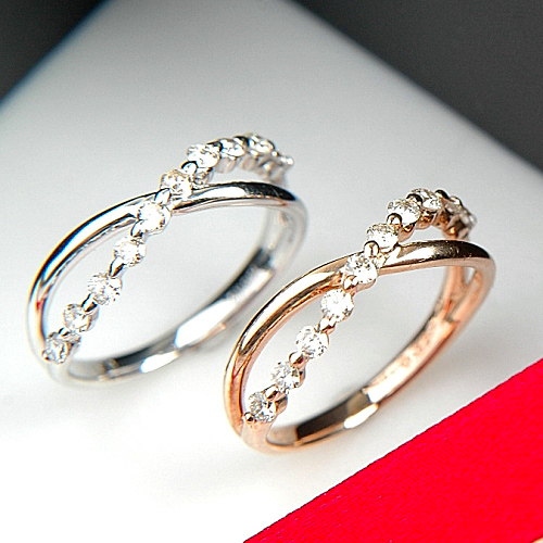 ピンクゴールド(K18PG) ダイヤモンド リング(ピンクゴールド/スイートテン)【ハイクラス】【宝石 ジュエリー】【プレゼント】【刻印無料】*