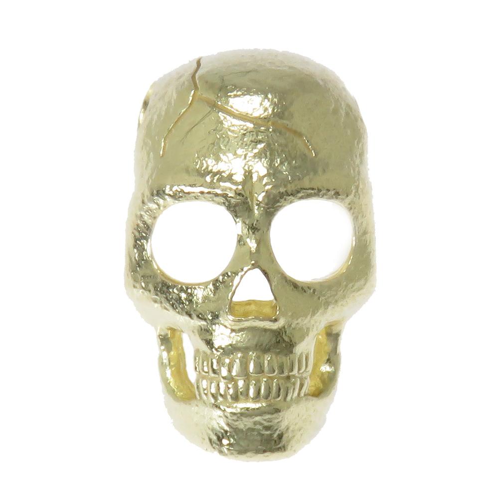 日本製 ドクロ K18 K18 ロック スカル どくろ 髑髏 メンズ 地金 どくろ ロック スカル skull ペンダントトップ ペンダントヘッド, グリーンリーフ:fe851e89 --- spotlightonasia.com