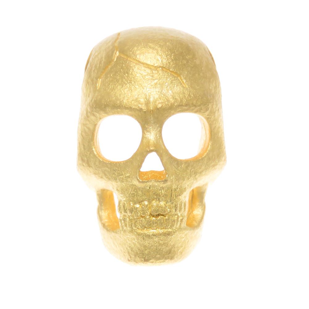 ドクロ K24 純金 スカル 髑髏 メンズ 地金 どくろ ロック スカル skull ペンダントトップ ペンダントヘッド