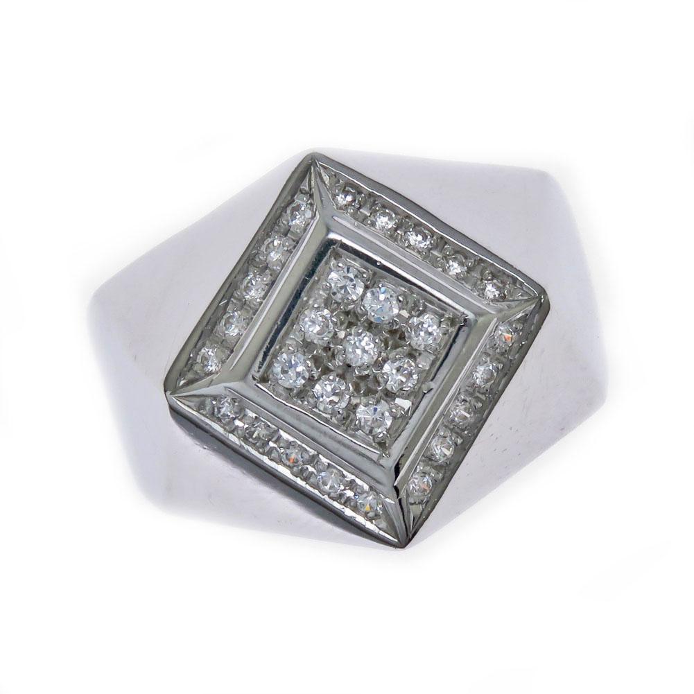 印台 メンズリング 太めの指輪 メンズ 男性 リング rapinesu-2119 Pt900 指輪 プラチナダイヤモンド 卓出 新色追加して再販