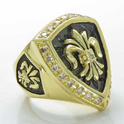 K18 ダイヤモンド メンズ 男性 フルールドリス 選べる金色送料無料 10号から30号まで対応