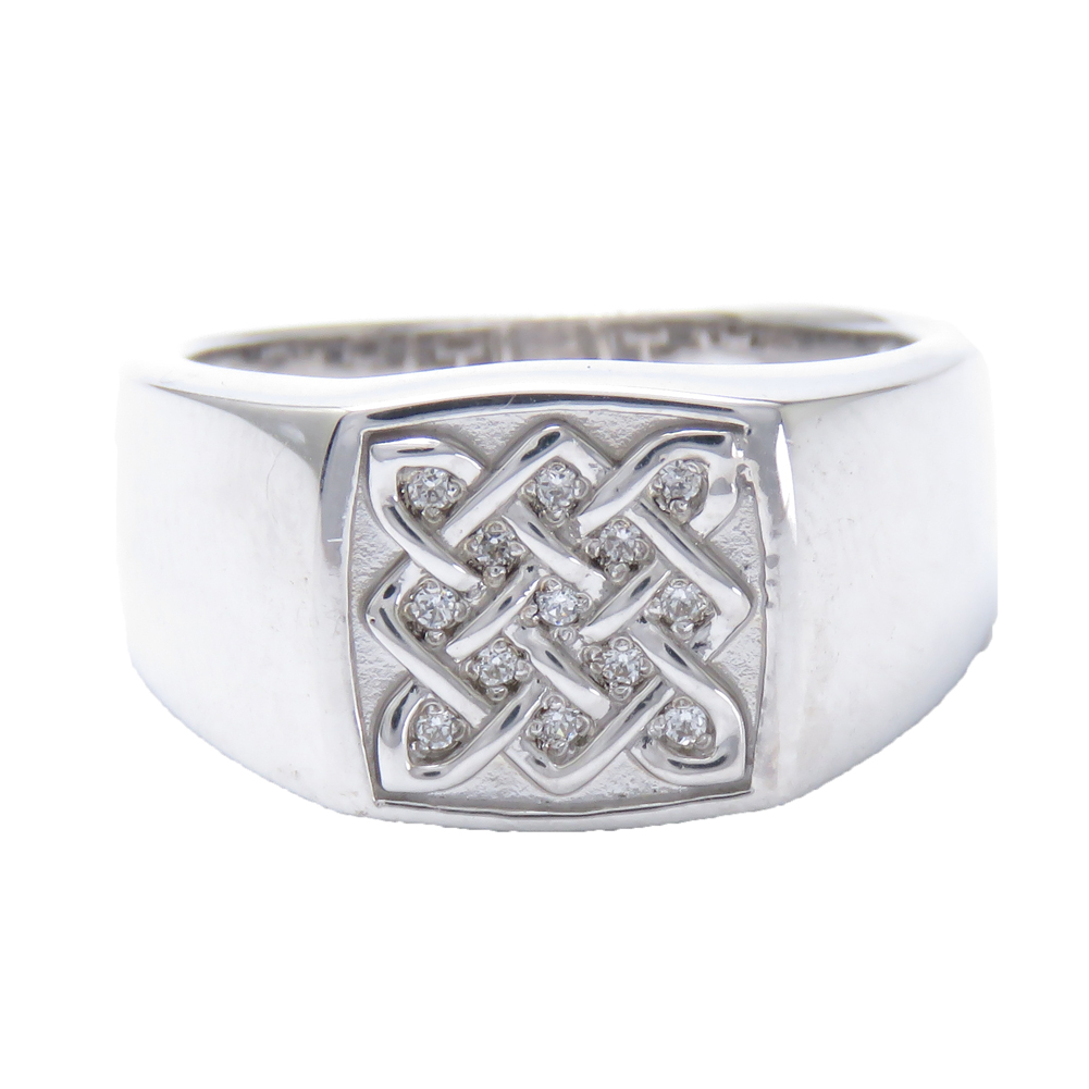 レディース指輪 ダイヤモンドリング プラチナ 印台 メンズリング