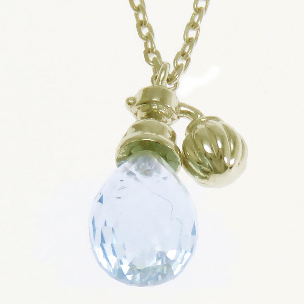 ネックレス ペンダント 香水瓶 ブリオレットカット カラーストーン K10 K18 Pt900