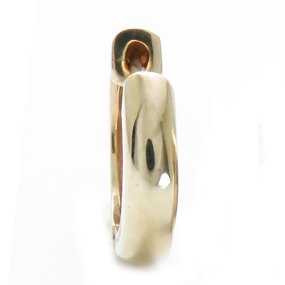半ペア 1個 片耳 ピアス 18k 中折れ フープ 地金 K10 3×11.5ピアス メンズ リング