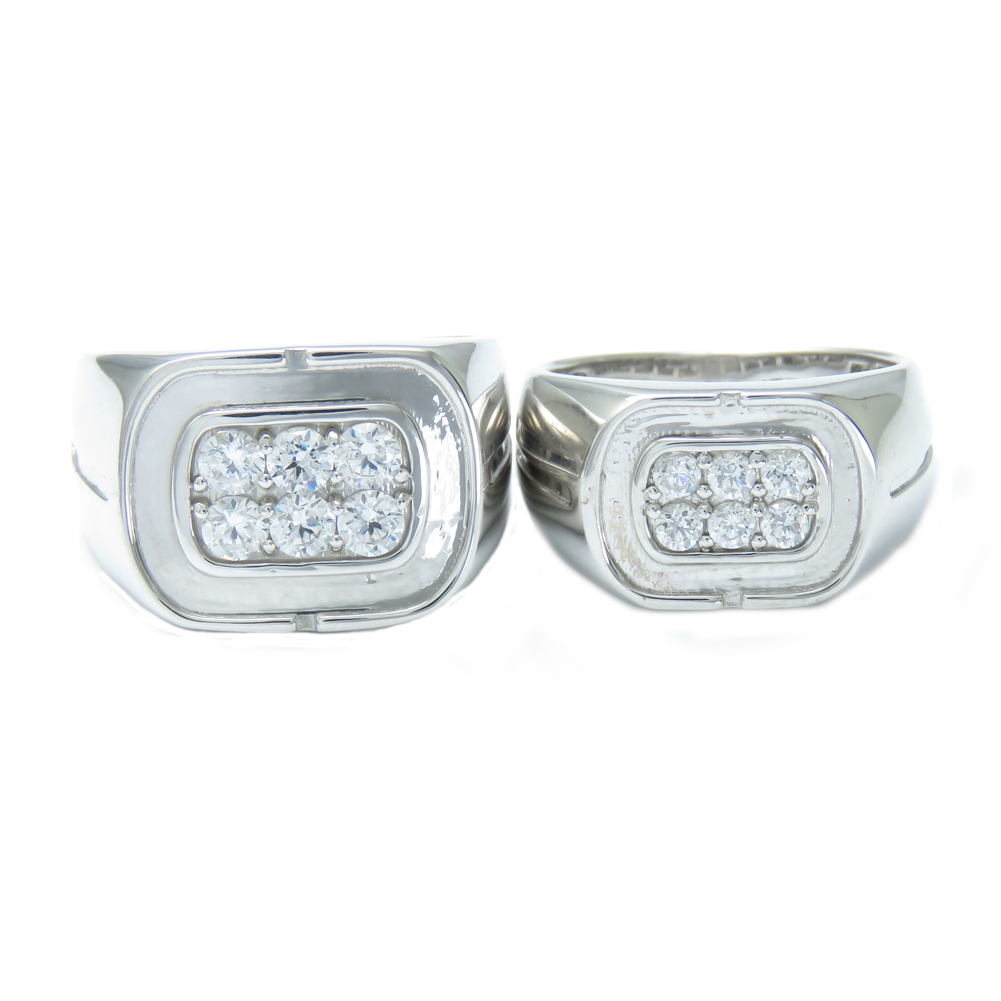 印台 ペアリング Pt900 ダイヤモンド メンズ レディース 結婚指輪 マリッジリング エンゲージリング