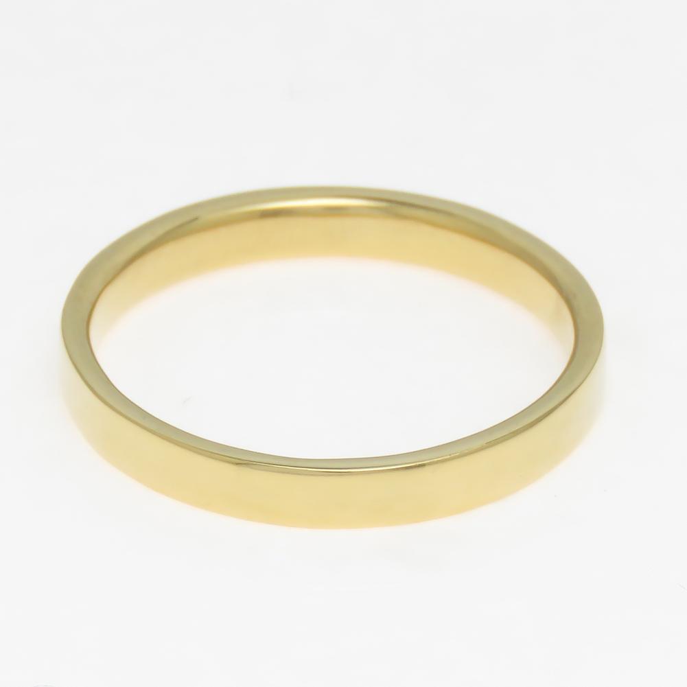 K18 平打ち ワイドリング 幅広 3mm幅 リング 予算に応じて金種を変更 選べる金色送料無料 6号から30号まで対応