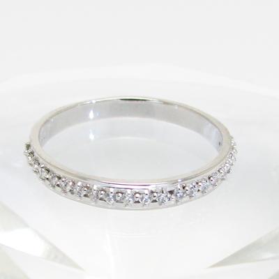 ダイヤモンド リング 指輪 K18WG 18金 ホワイトゴールド ハーフエタニティ 一文字送料無料 プレゼント ギフト対応 サイズ限定商品