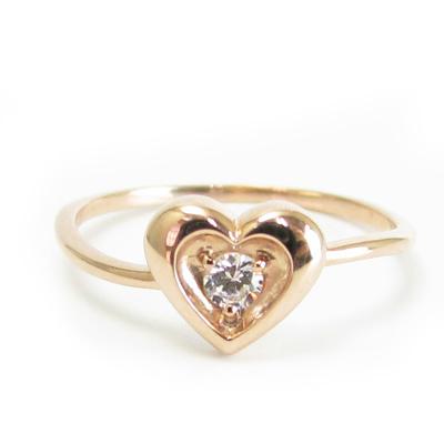 ダイヤモンド リング K18 ハート 選べる金色18金 ホワイトゴールド ピンクゴールド 送料無料 プレゼント ギフト対応 サイズ限定商品