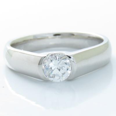 ダイヤモンドリング プラチナ900 PT900 0.5ct 指輪 ダイヤモンド 1石 レディース