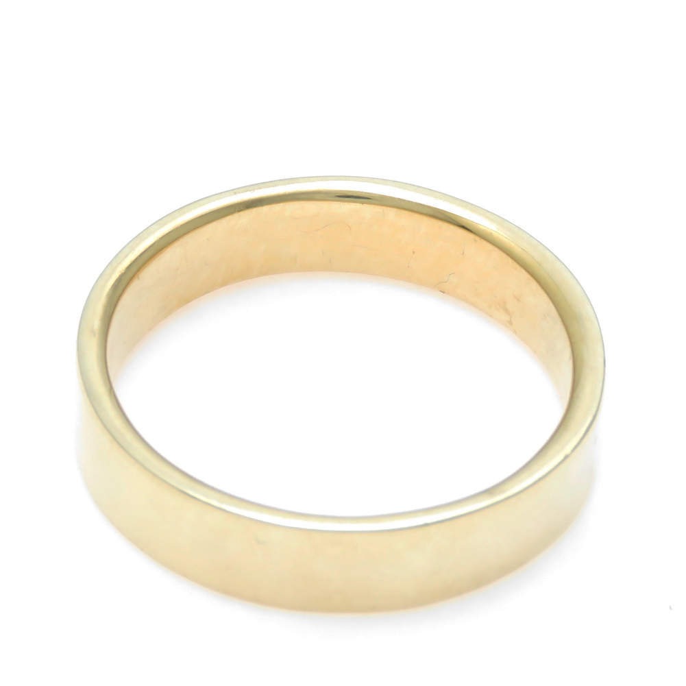 K18 平打ち ワイドリング 幅広 5mm幅 リング 予算に応じて金種を変更 選べる金色送料無料 10号から30号まで対応