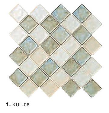 釉薬の厚みによって幻想的な色を生み出す タイルの名古屋モザイク工業 クラフトタイル KULICLAIR クリクレア KUL-06 約49X49X6.5 49角