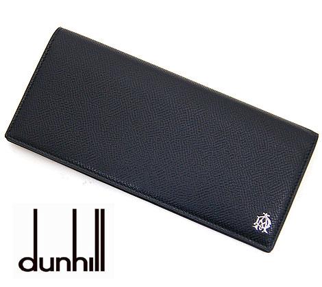 dunhill ダンヒル BOURDON ボードン 型押しレザー メンズ用 小銭入れ付長財布 ブラック L2X210A【送料無料】【05P03Dec16】