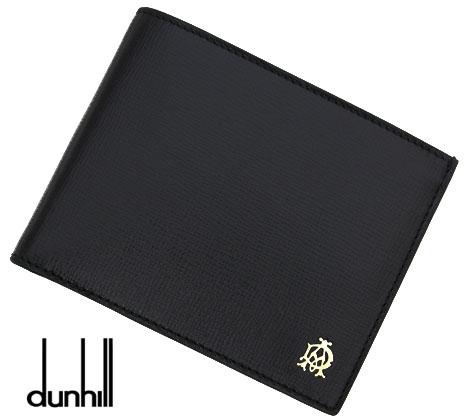 dunhill ダンヒル BELGRAVE ベルグレーブ 型押しレザー メンズ用 小銭入れ付 二つ折り財布 ブラック L2S832A【送料無料】