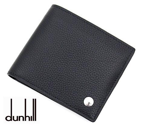 dunhill ダンヒル BOSTON ボストン 小銭入れ付 二つ折り財布 ブラック L2W332A【送料無料】