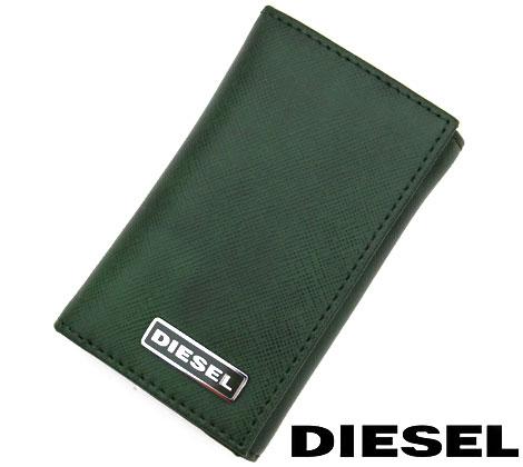 DIESEL ディーゼル KEYCASE O カーフレザー メンズ用 6連キーケース キーホルダー グリーン X03121 P0517 T7170【送料無料】