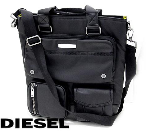 DIESEL ディーゼル X03780 PS888 T8013 GEAR TOTE メンズ用 ショルダーバッグ トートバッグ ブラック 【送料無料】