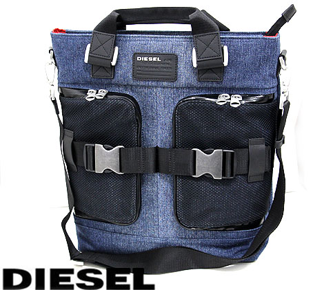 DIESEL ディーゼル X04586 P1252 H4933 M-CARRGO TOTE メンズ用 ショルダーバッグ トートバッグ デニム 【送料無料】