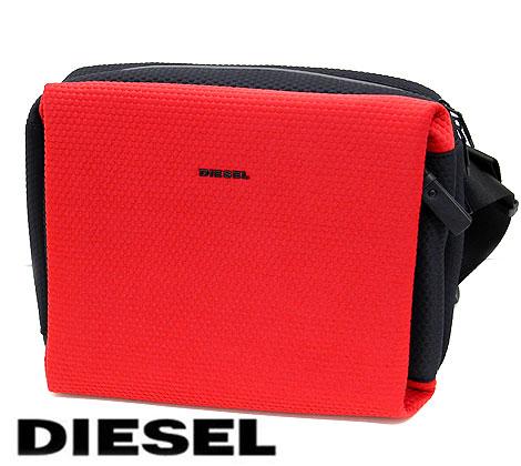 DIESEL ディーゼル X05196 P1532 H5582 F-SUBTORYAL CROSSBODY メンズ用 ボディバッグ ショルダーバッグ レッド×ブラック 【送料無料】